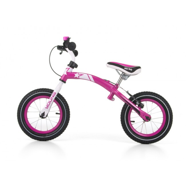 Bicicleta fara pedale Young Pink