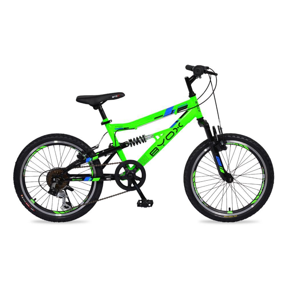 Bicicleta pentru copii Byox Versus Green 6 viteze 20 inch imagine