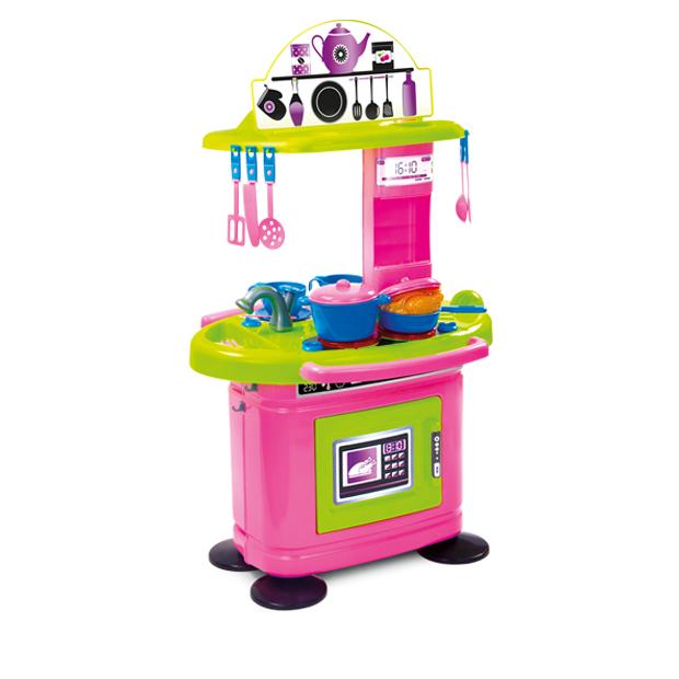 Bucatarie pentru copii Chef cu 26 de accesorii Pink 78 cm