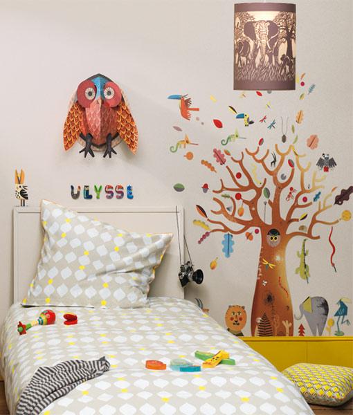 Decoratie pop-up Bufnita colorata