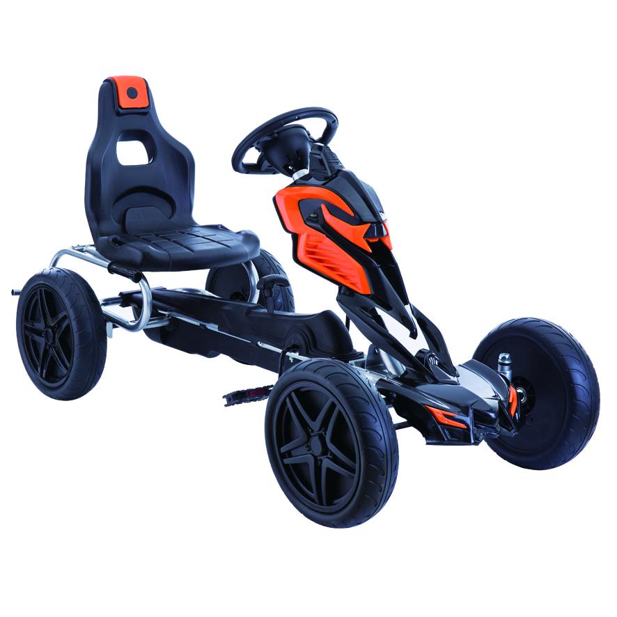 Kart cu pedale Go Kart Black imagine