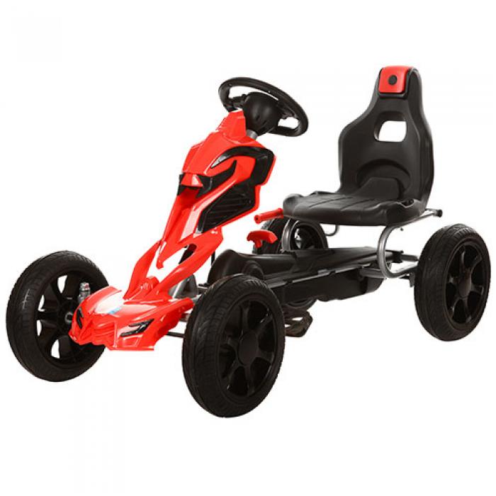 Kart cu pedale Go Kart Red imagine