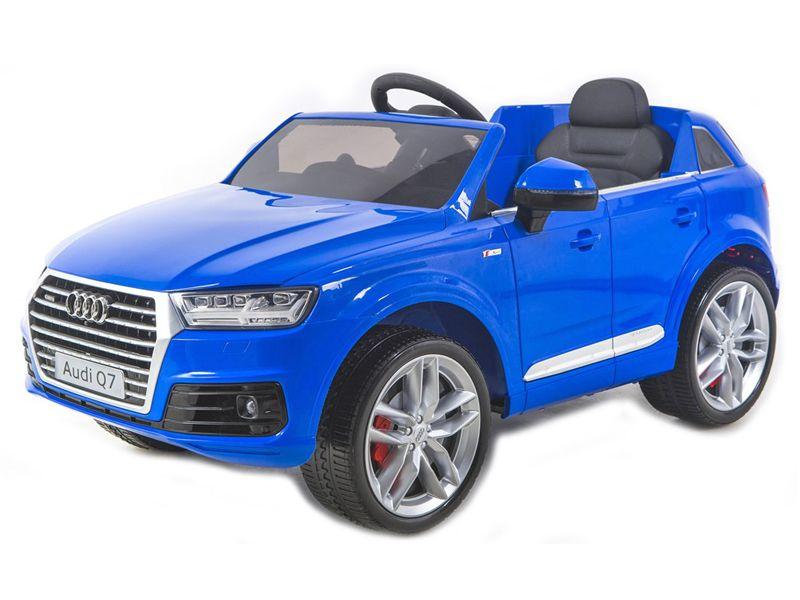 Masinuta Electrica Cu Scaun De Piele Audi Q7 Blue