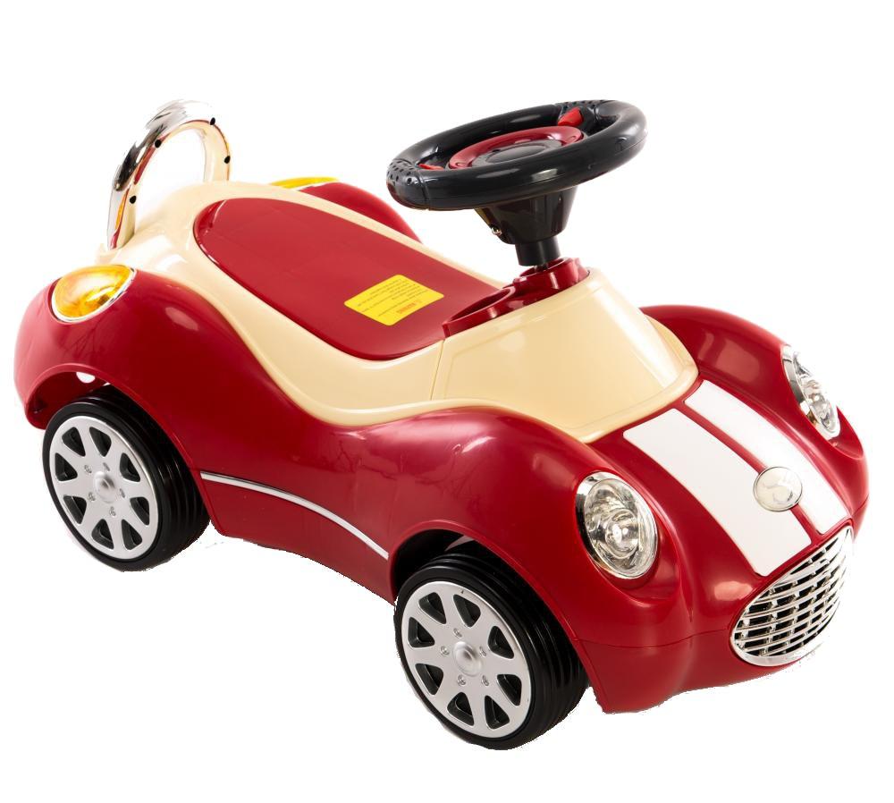 Masinuta fara pedale cu roti din cauciuc Super Rider Red