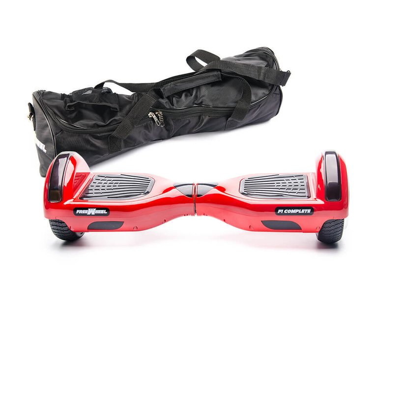 Scooter electric Hoverboard Freewheel F1 Complete - Rosu + Husa Cadou