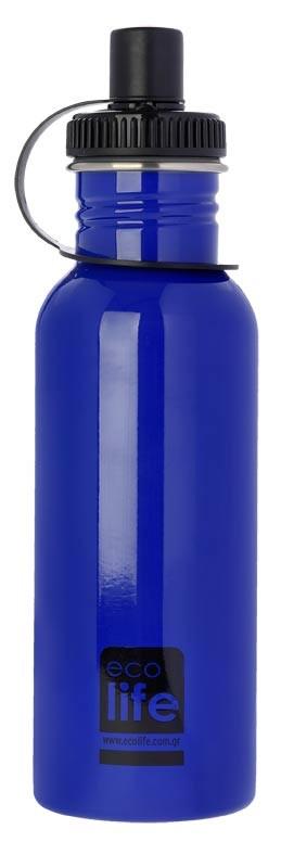 Sticla inox uni 600 ml culoare bleu