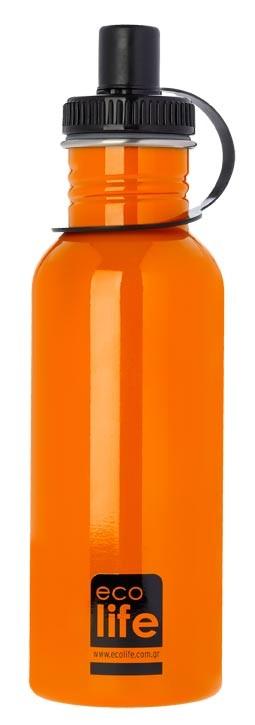 Sticla inox uni 600 ml culoare portocaliu