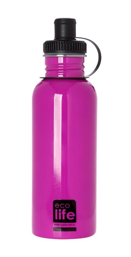 Sticla inox uni 600 ml culoare roz