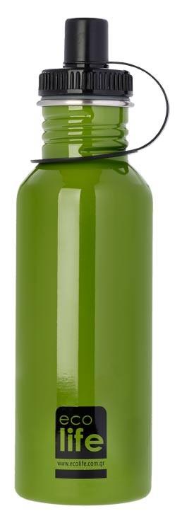 Sticla inox uni 600 ml culoare verde