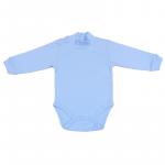 Body B08 basic  albastru 6-9 luni  68 cm