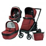 Carucior 3 in 1 Black Mat Team Peg Perego Terracota