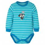 Body cu maneca lunga Stripes and Football 74