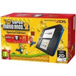Nintendo 2ds console black & blue & new super Mario bros 2 - gdg