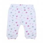Pantaloni P02 print  coronite roz 1-3 luni  56 cm