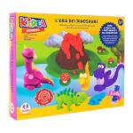 Set creativ set tematic plastilina cu sabloane Dinozauri