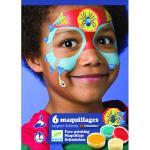 Set make-up culori non alergice Djeco super-eroi