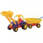 Tractor cu excavator si remorca 60 cm Ucar Toys UC55