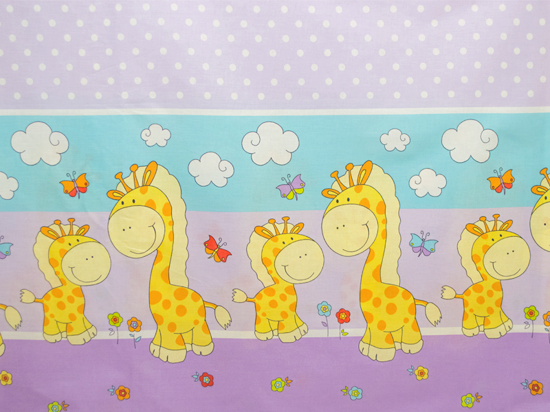 Aparatoare laterala Happy Giraffe mov 140x70