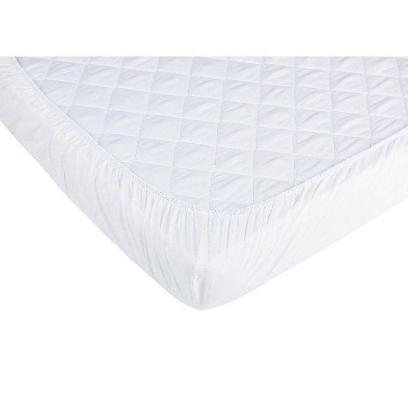 Set 2xCearceaf cu elastic pt patut de 120x 60 cm alb+lila imagine