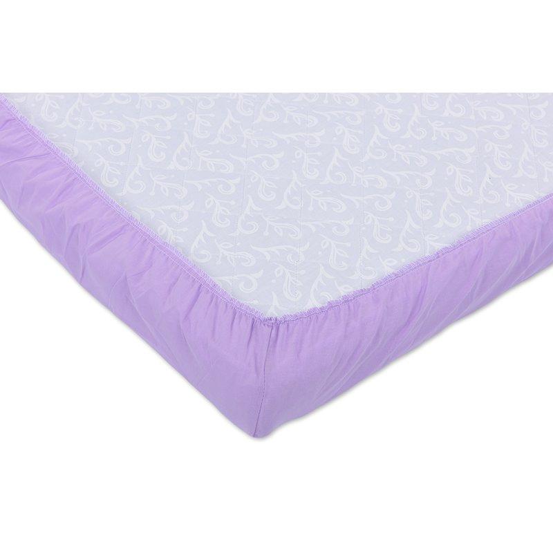 Set 2xCearceaf cu elastic pt patut de 120x 60 cm lila+crem