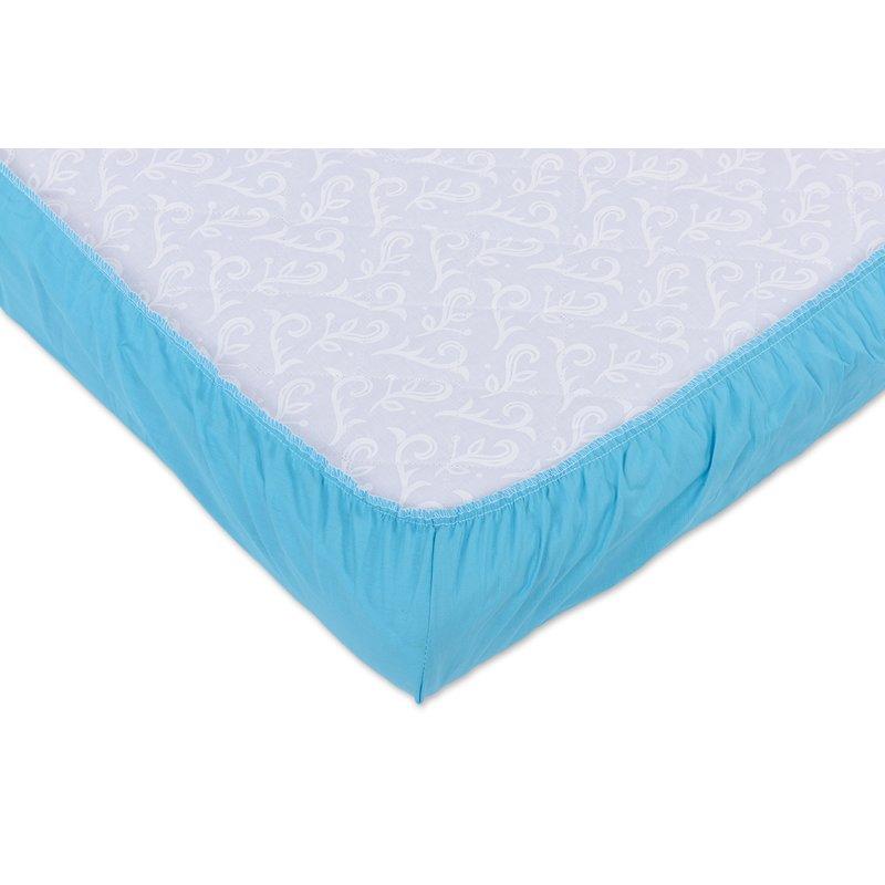 Set 2xCearceaf cu elastic pt patut de 140x 70 cm bleu+cappucino