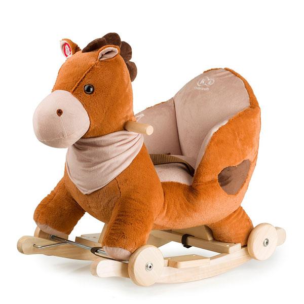 Balansoar Cu Roti 2 In 1 Horse Brown