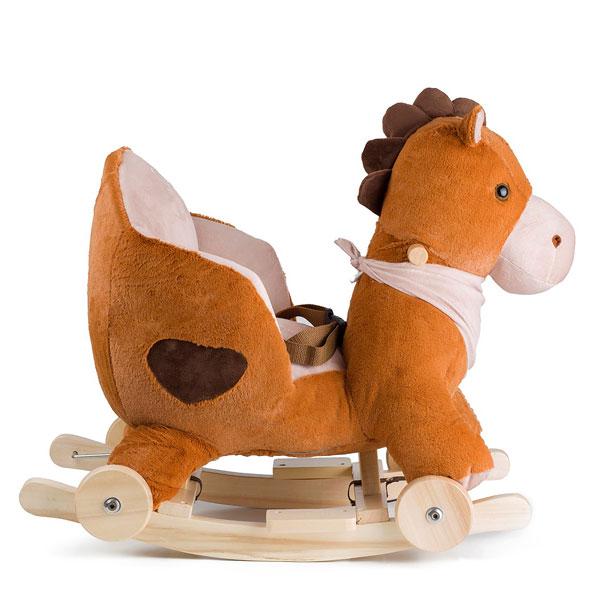Balansoar cu roti 2 in 1 Horse Brown imagine