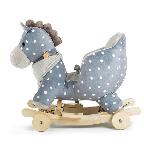 Balansoar cu roti 2 in 1 Horse Grey imagine