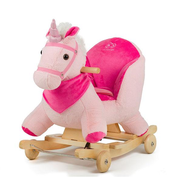 Balansoar Cu Roti 2 In 1 Horse Pink