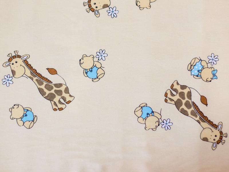 Baldachin bumbac mic Mini Giraffe crem