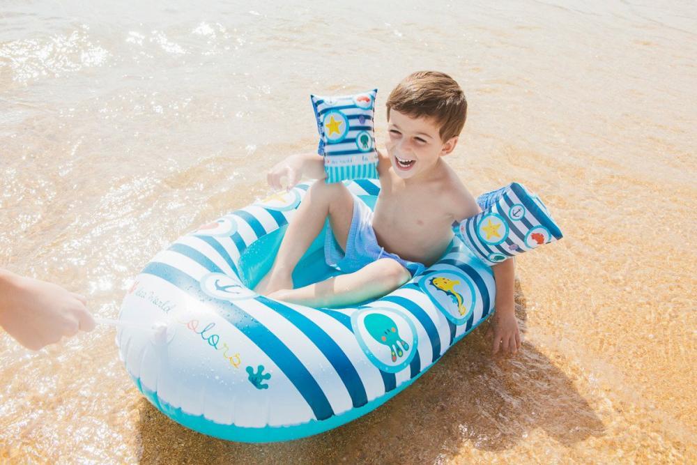 Barca gonflabila pentru plaja colectia Sea World Colors