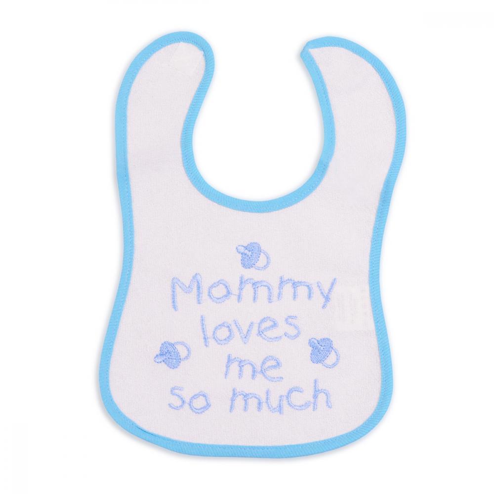 Bavetica impermeabila cu scai Baby Bib Mam Blue din categoria Alimentatie de la CANGAROO
