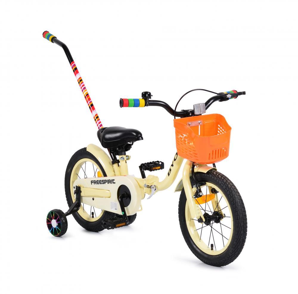 Bicicleta cu maner Byox Freespirit Beige 14 inch
