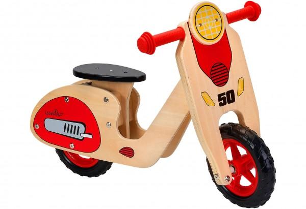Bicicleta fara pedale din lemn Globo Legnoland 37723 pentru copii model Retro Scooter din categoria La Plimbare de la Globo
