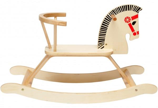Calut balansoar din lemn Globo Legnoland 37021 pentru copii cu spatar