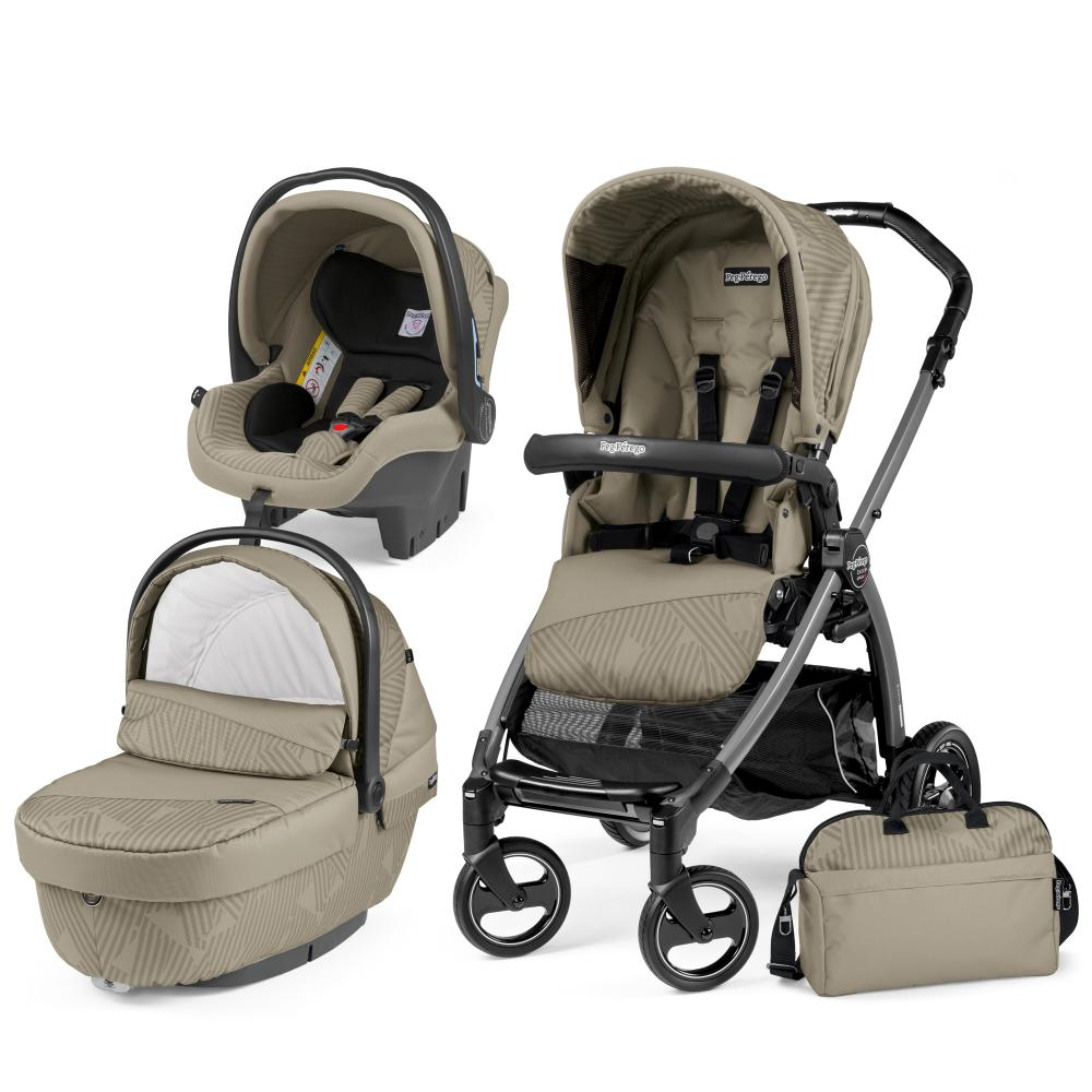 Carucior 3 in 1 Book Plus S Black Sportivo Geo Geo Beige