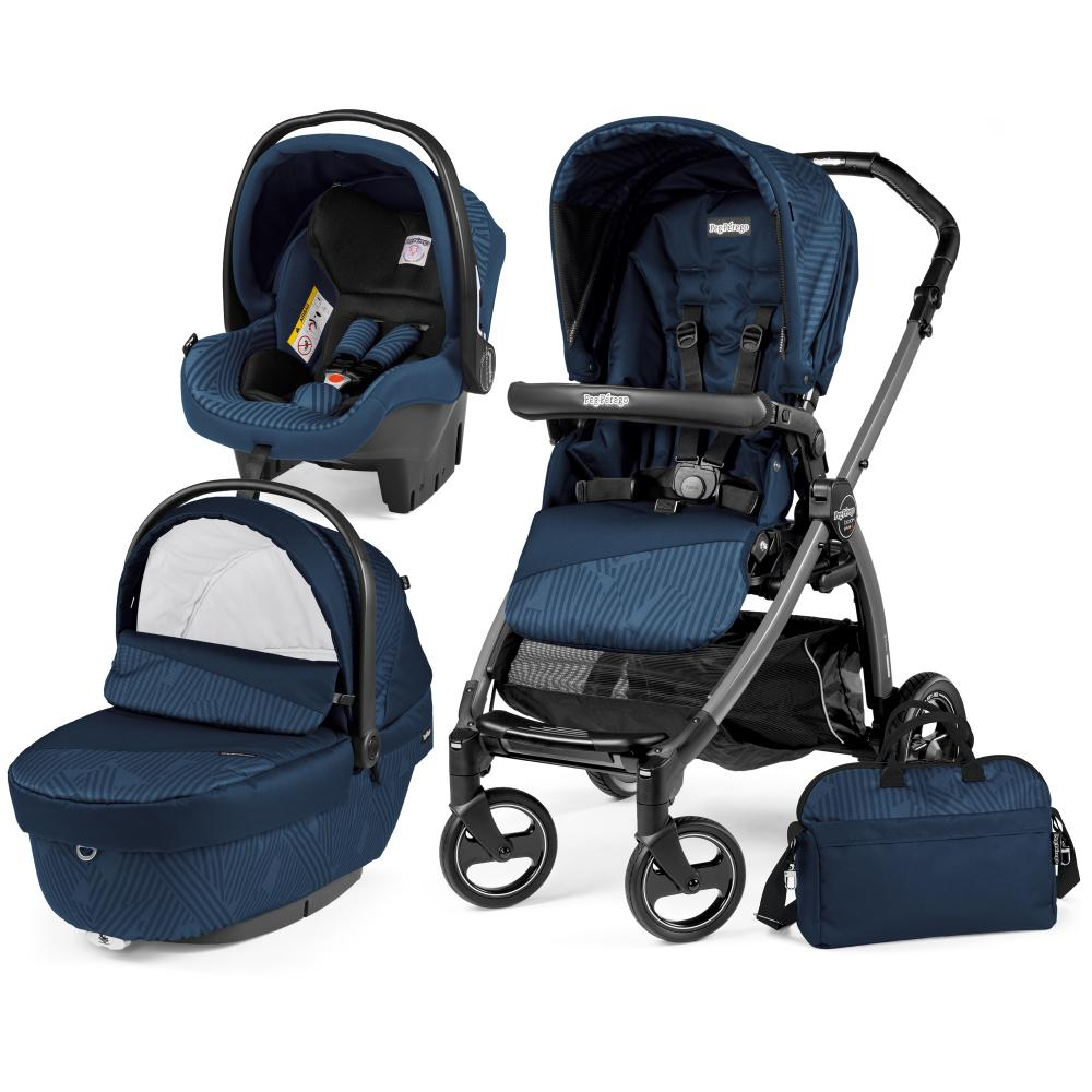 Carucior 3 in 1 Book Plus S Black Sportivo Geo Geo Navy