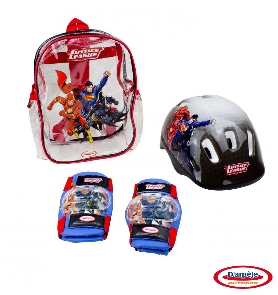 Set protectie in rucsac (Casca, genunchiere, cotiere) Dc Comics