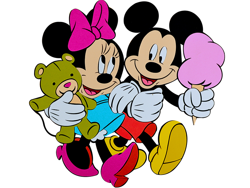 Decoratiune din burete copii Mickey si Minnie srmk-0015
