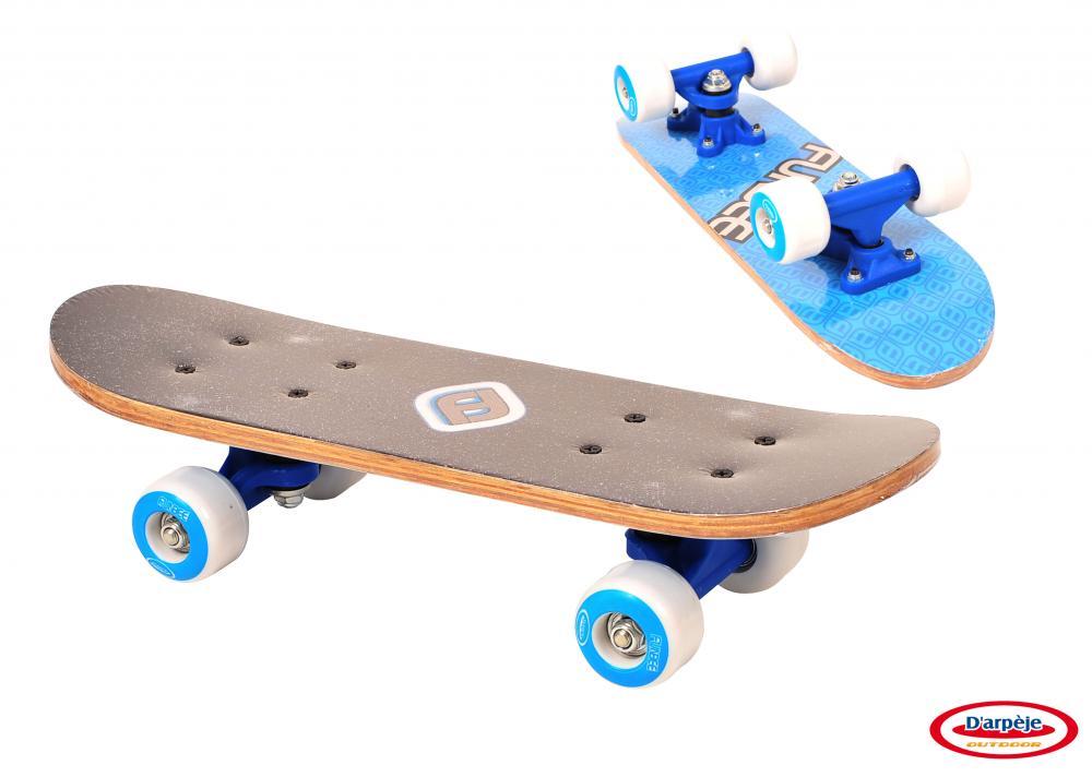 Mini Skateboard Albastru 43 cm imagine