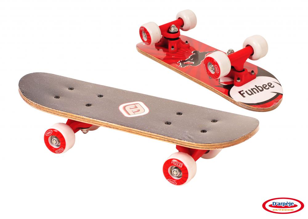 Mini Skateboard Rosu 43 cm imagine