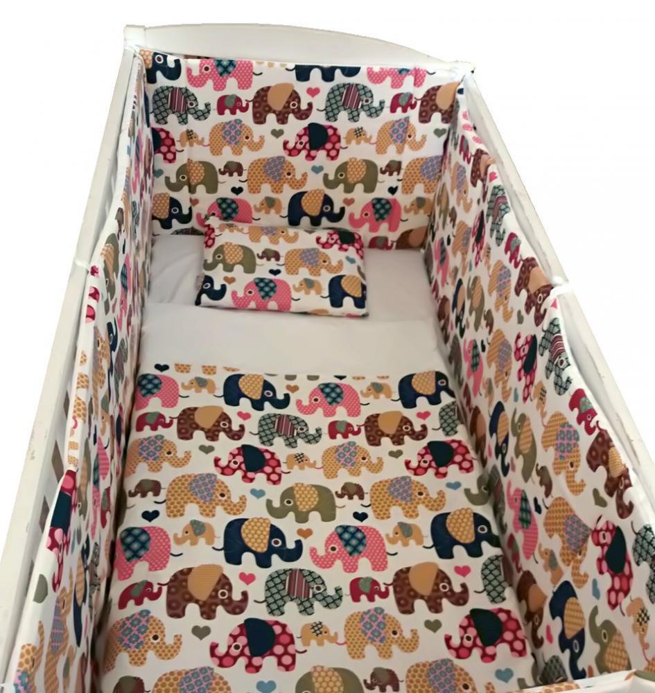 Lenjerie de pat Jungla elefantilor 120x60 cm