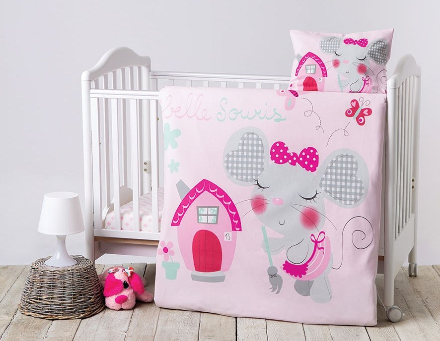 Lenjerie patut cu 5 piese Pink House type 5