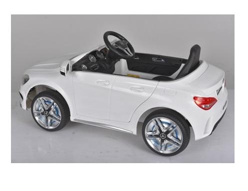 Masinuta electrica cu telecomanda si roti eva Mercedes CLA45 White