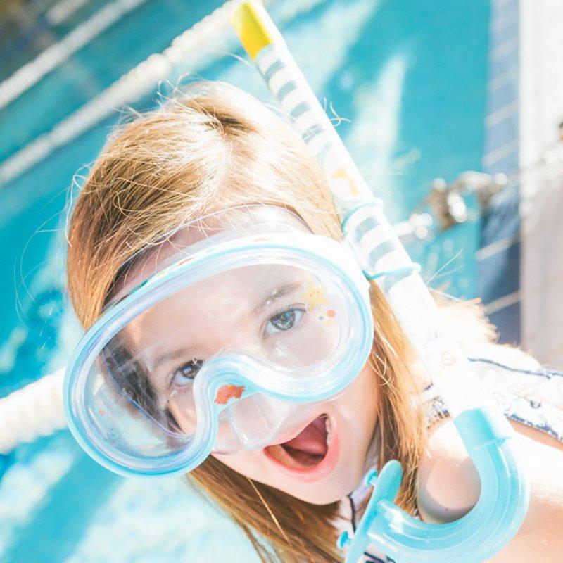 Ochelari si tub de respirat pentru scufundari imagine