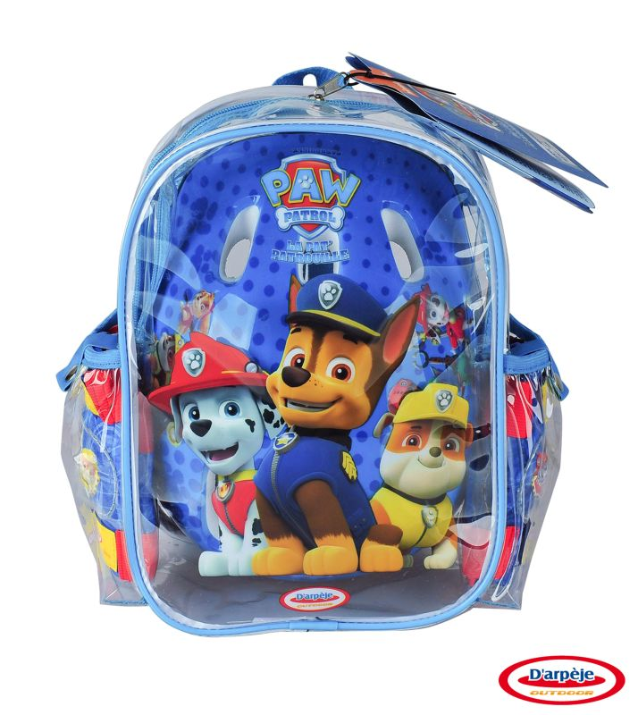 Set Protectie in rucsac (casca, genunchiere, cotiere) Paw Patrol