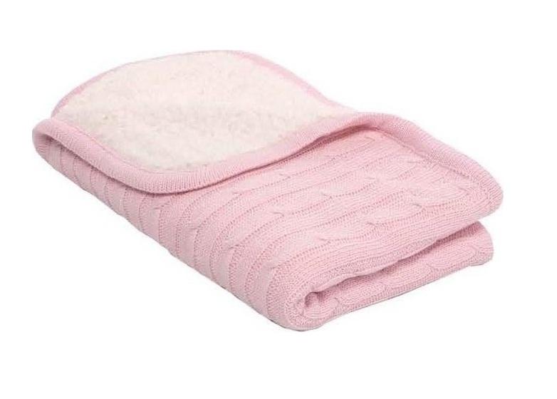 Paturica Cu Doua Fete Blanket Sherpa Pink