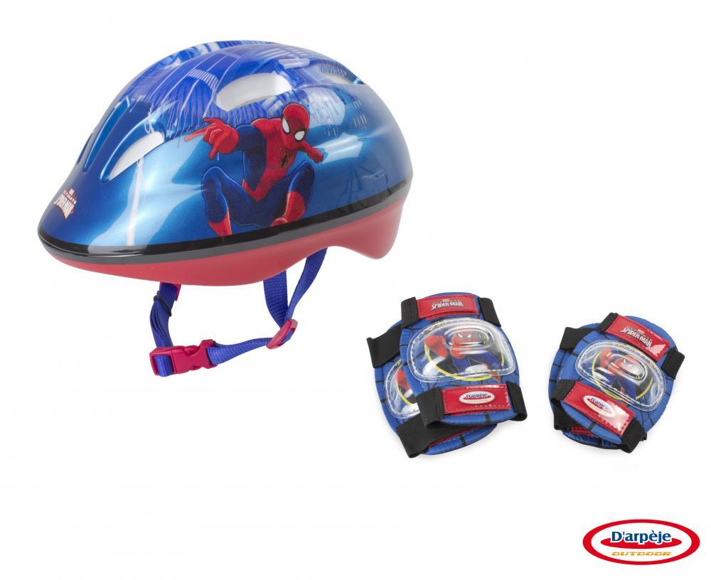 Set Protectie (Casca, Genunchiere, Cotiere) Spiderman