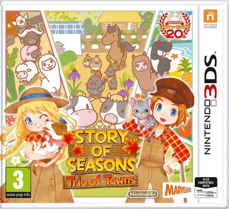 Joc story of seasons trio of towns 3ds