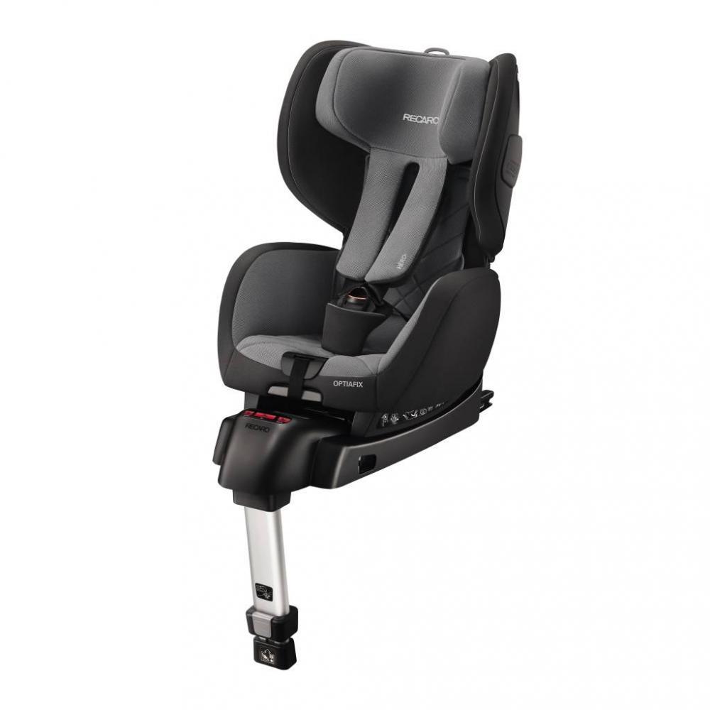 Scaun auto pentru copii cu isofix OptiaFix Carbon Black